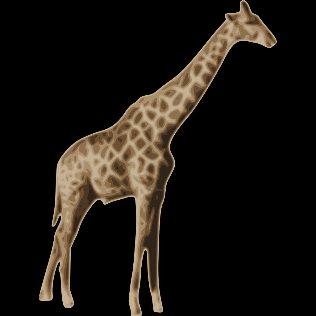 Tall Giraffe SVG Clip arts