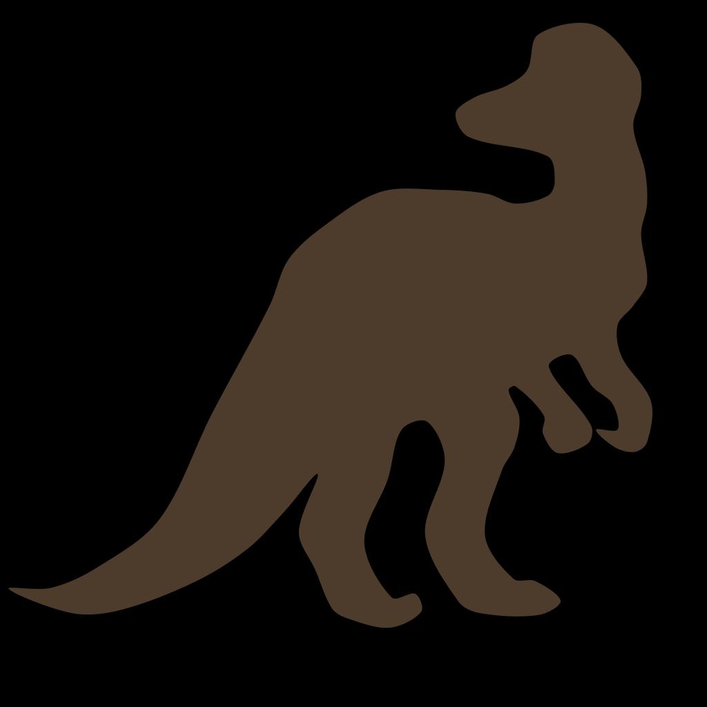 Brown Cory Dino SVG Clip arts