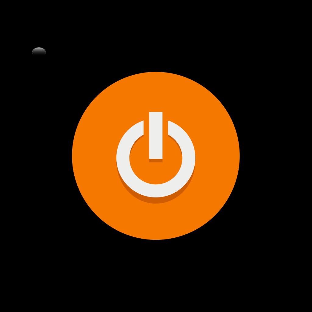 Orange Power Button SVG Clip arts