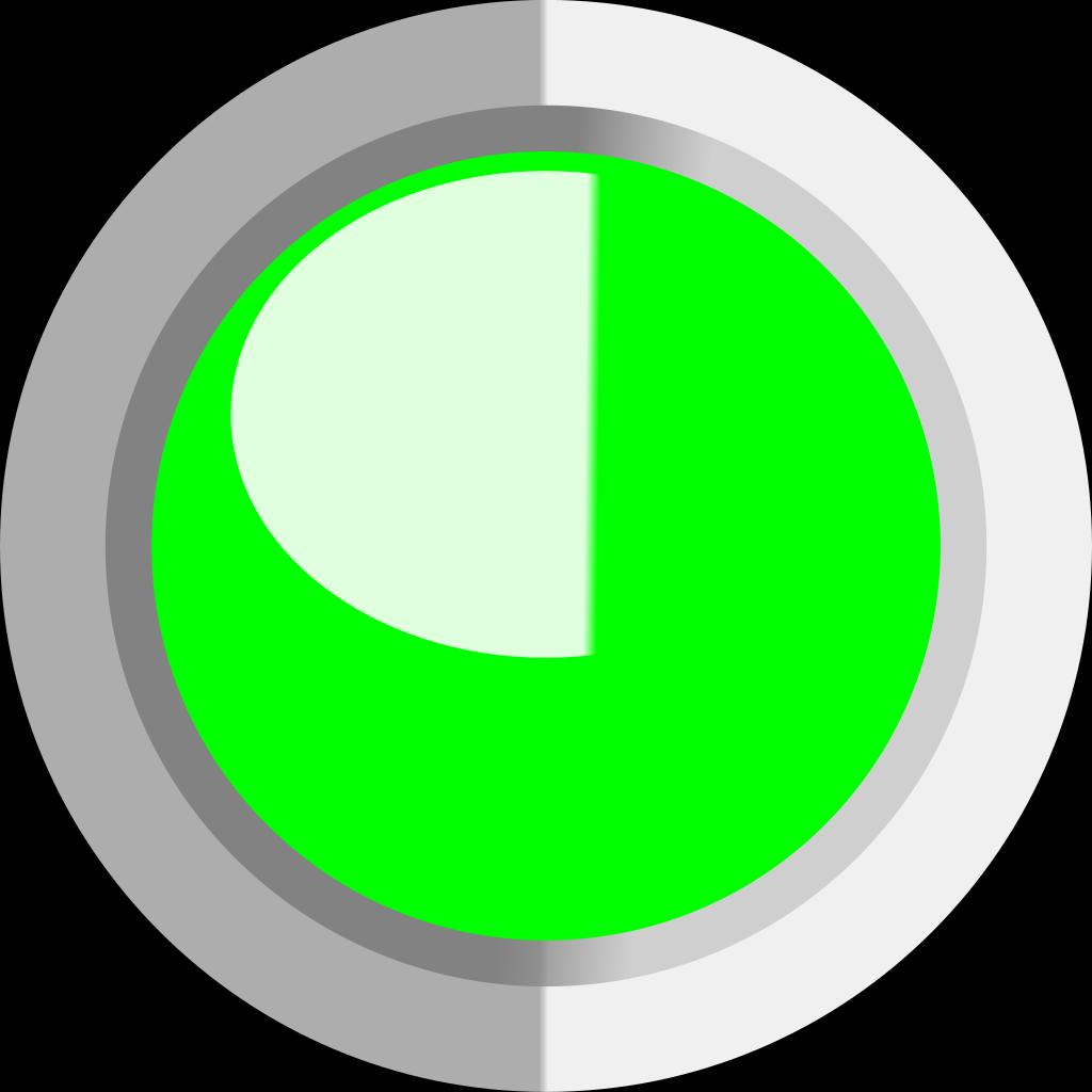 Green Circle Button SVG Clip arts