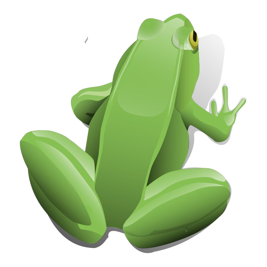 Sitting Frog SVG Clip arts