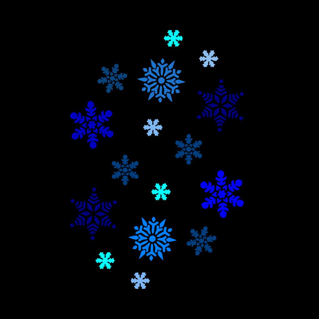 Blue Snowflake SVG Clip arts