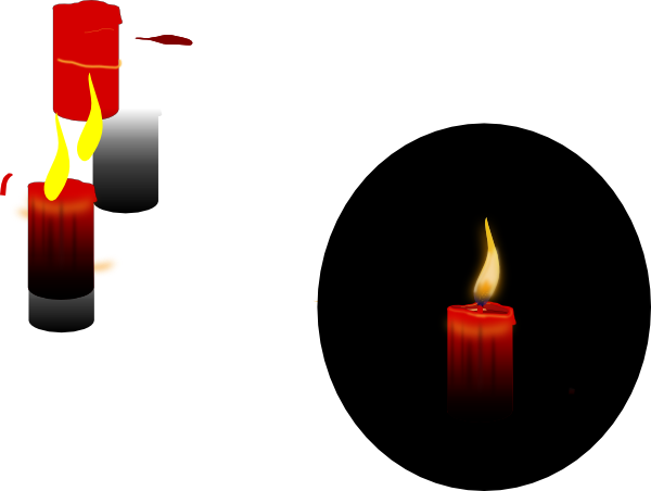 Candle SVG Clip arts