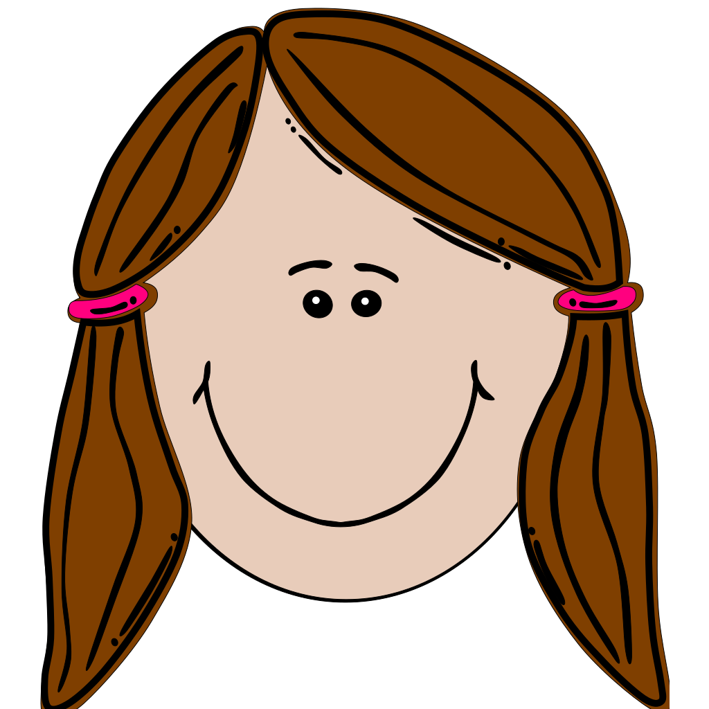 Brunette Teenager SVG Clip arts