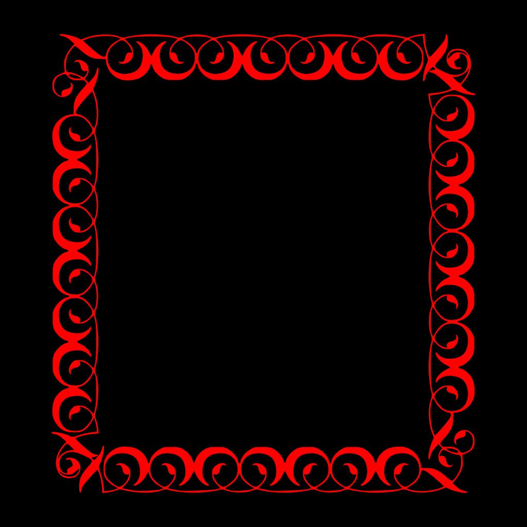Rose Border SVG Clip arts