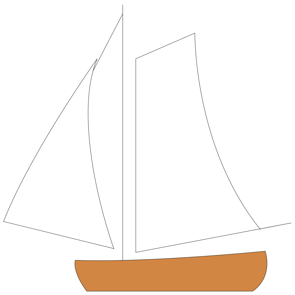 Sailing Boat SVG Clip arts