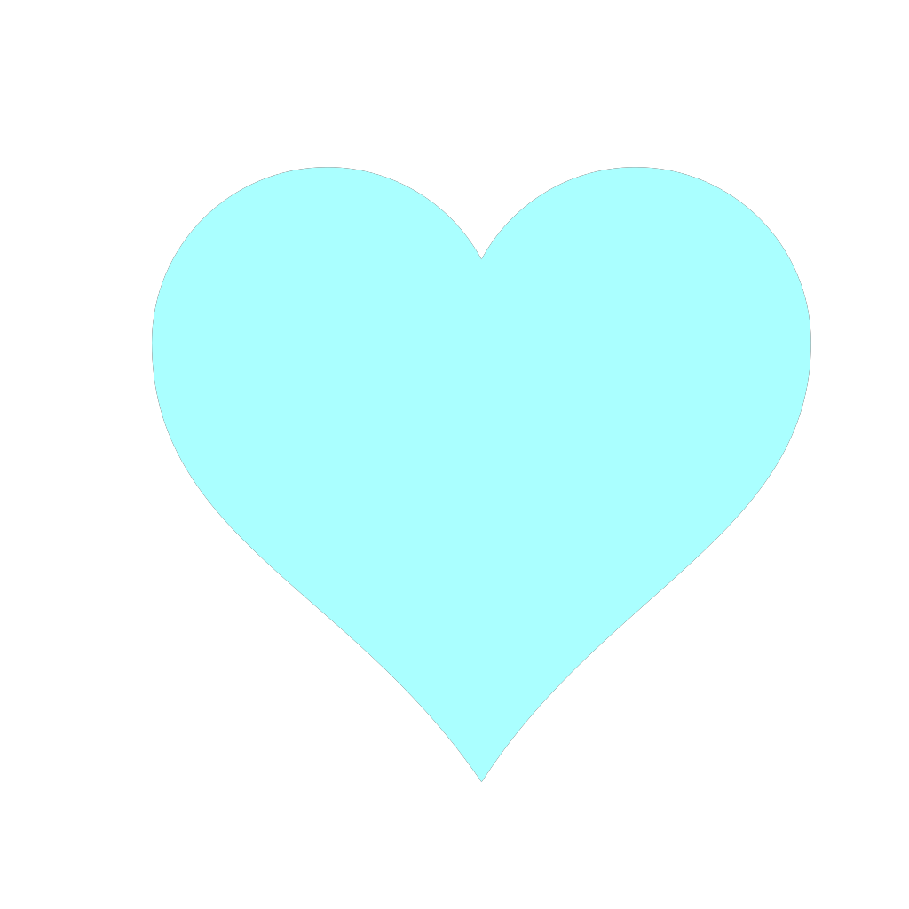 Blue Heart SVG Clip arts
