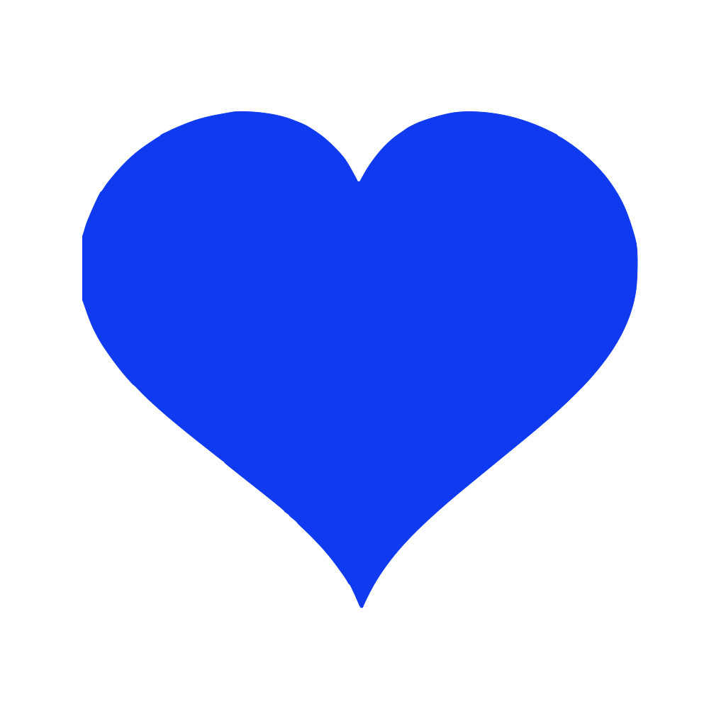 Blue Hearts SVG Clip arts