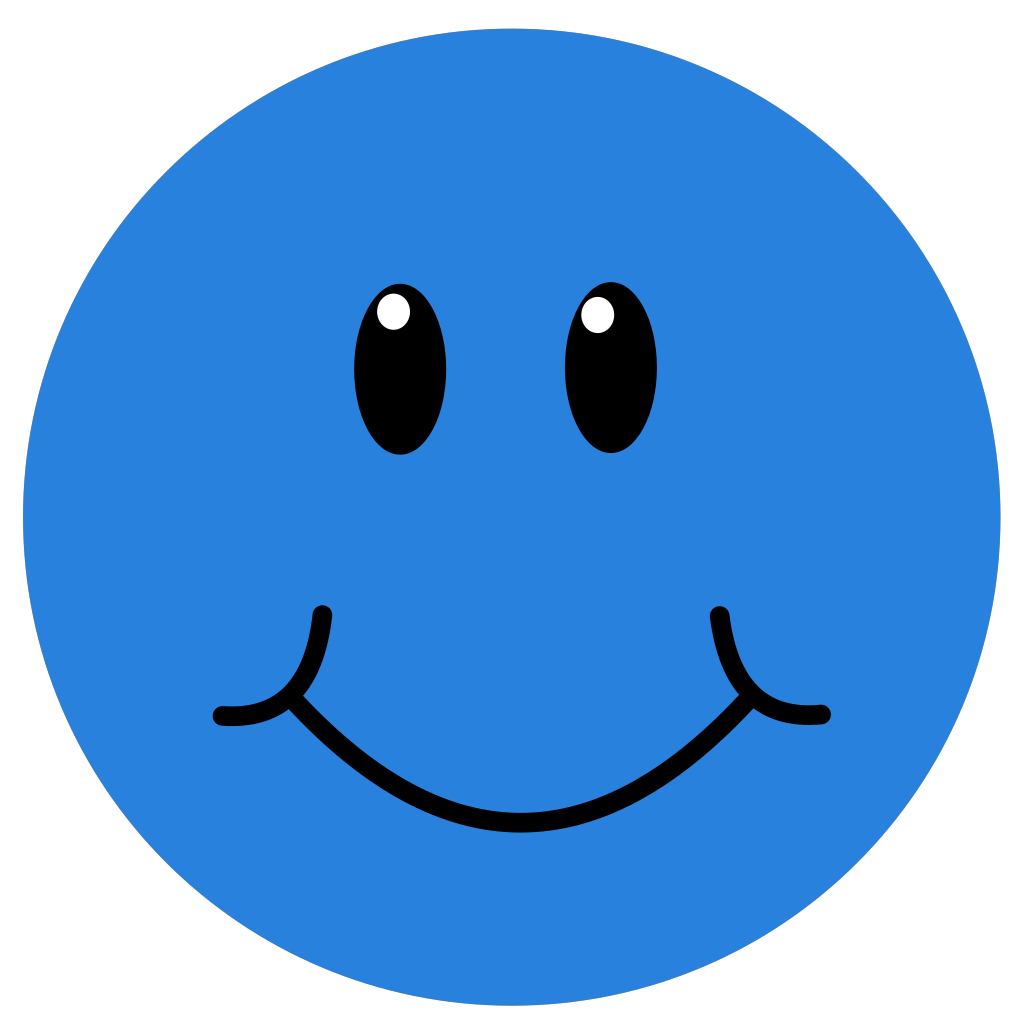 Blue Smile svg