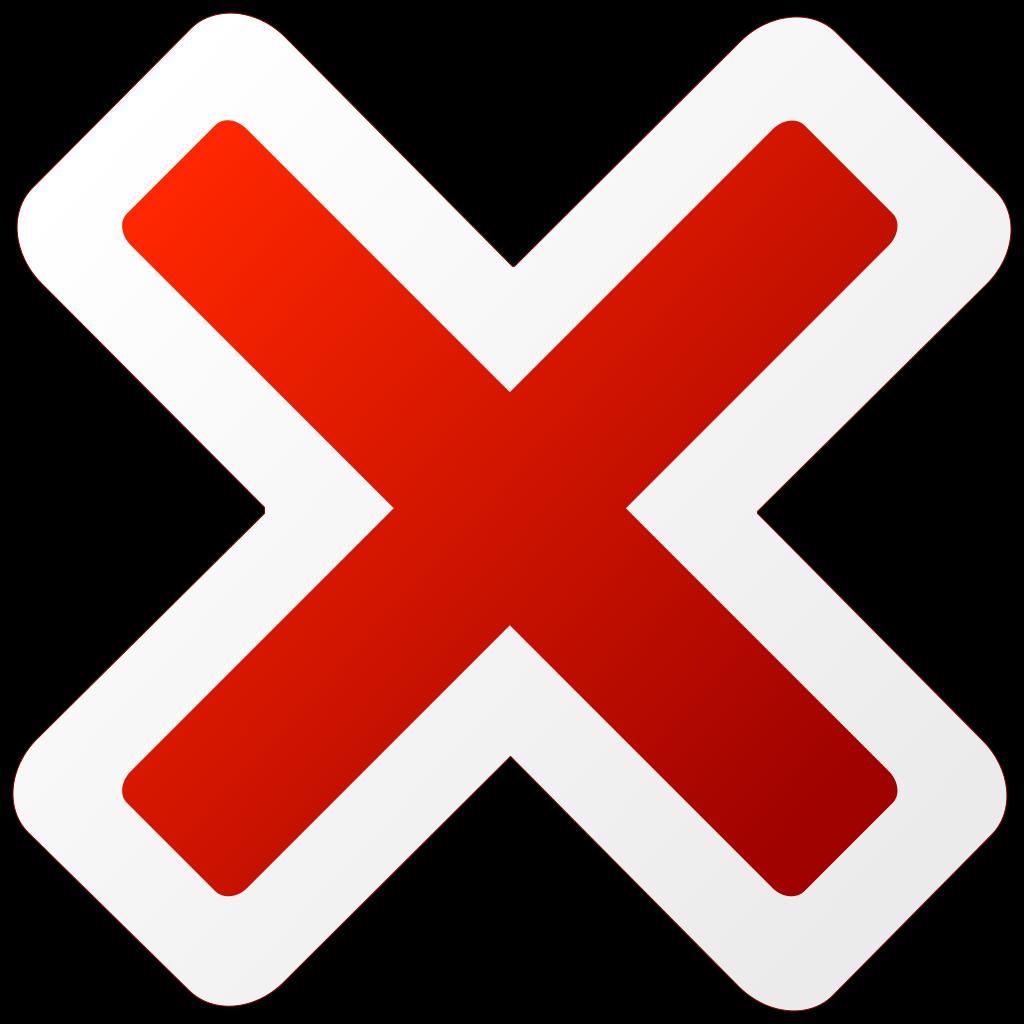 Cancel Icon SVG Clip arts