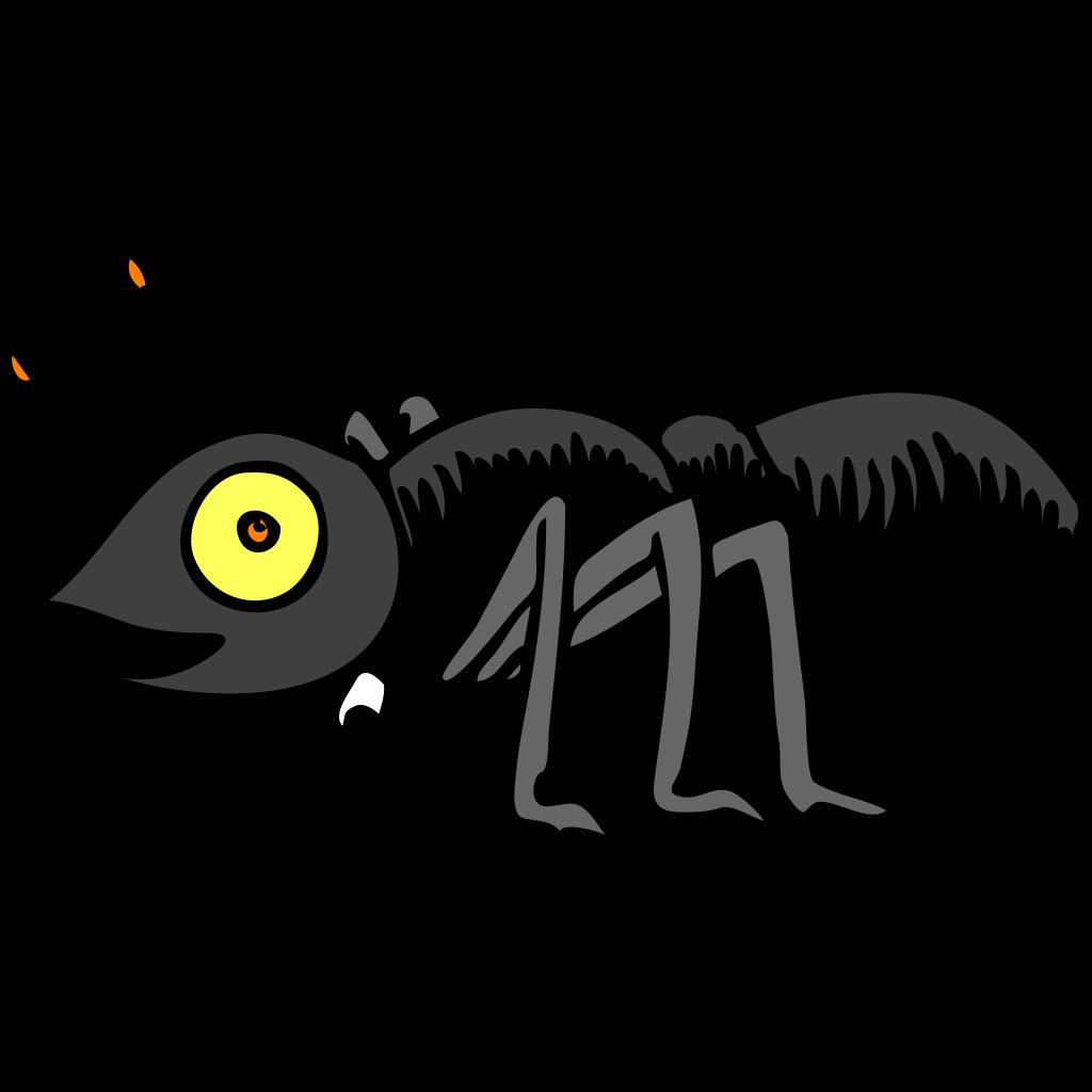 Bug eyed ant clip art vector