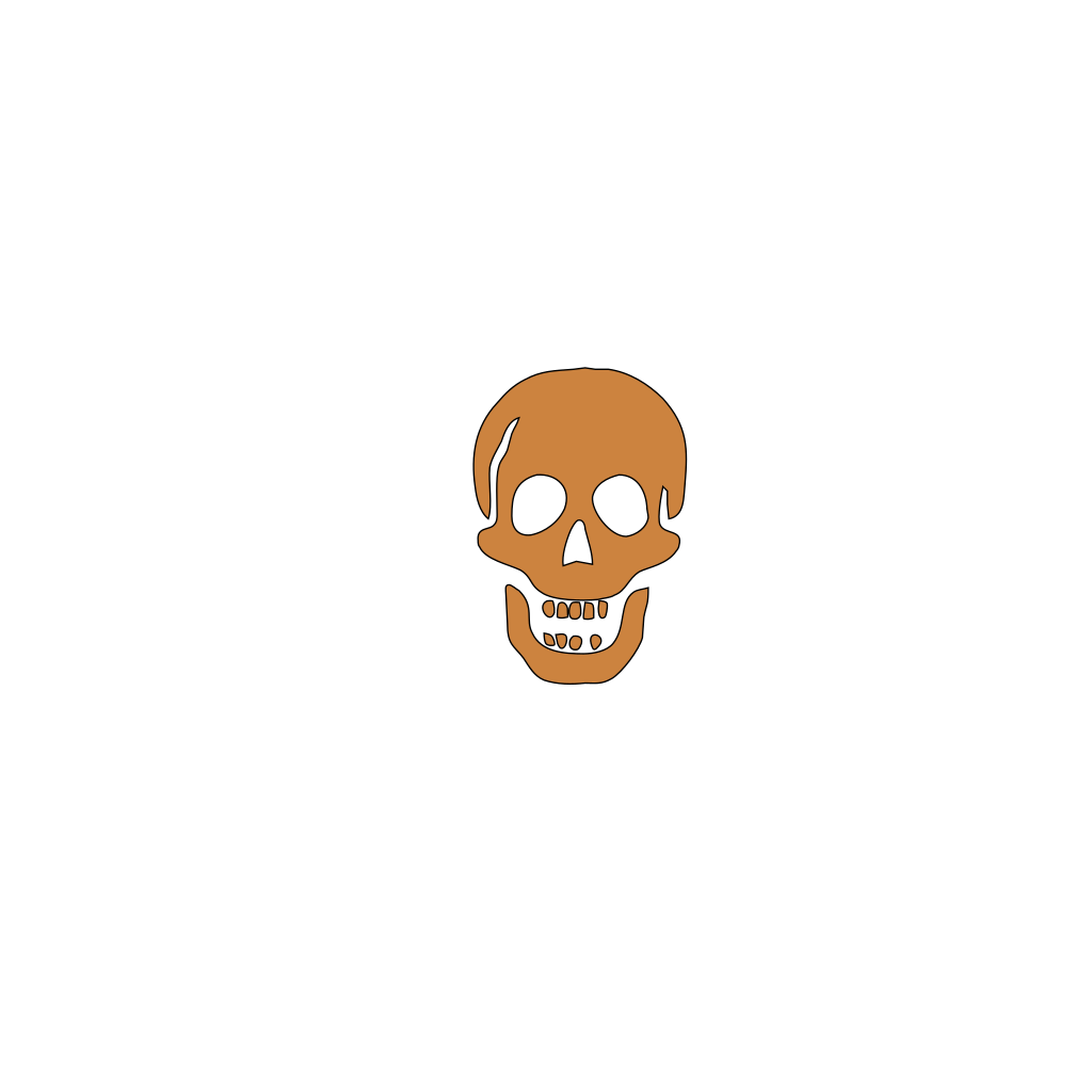Brown Skull SVG Clip arts