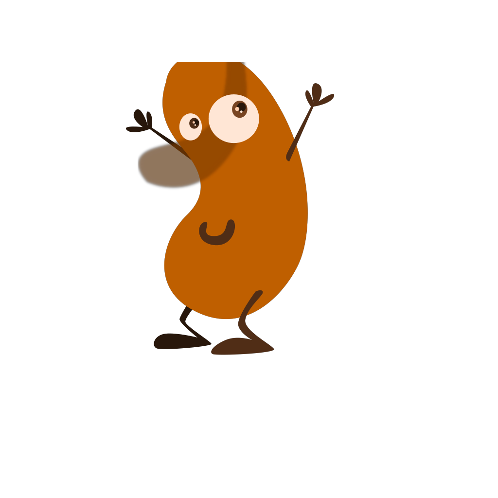 Brown Bean Clip art - Cartoon - Download vector clip art online
