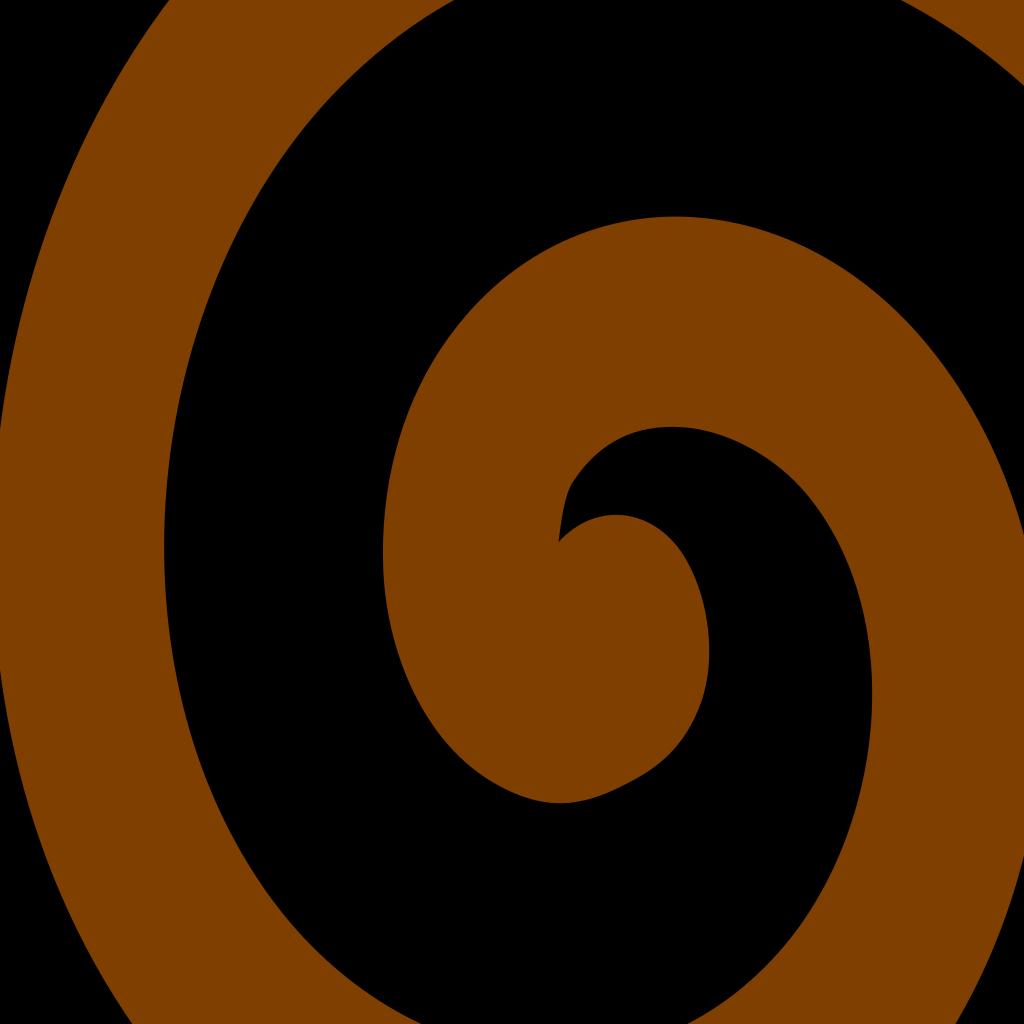 Brown Spiral SVG Clip arts