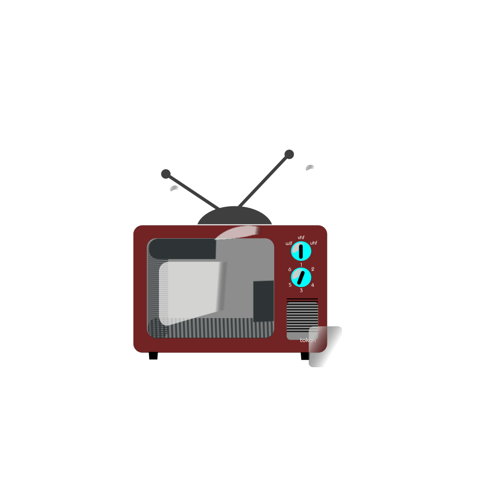Tv Brown Clipart svg