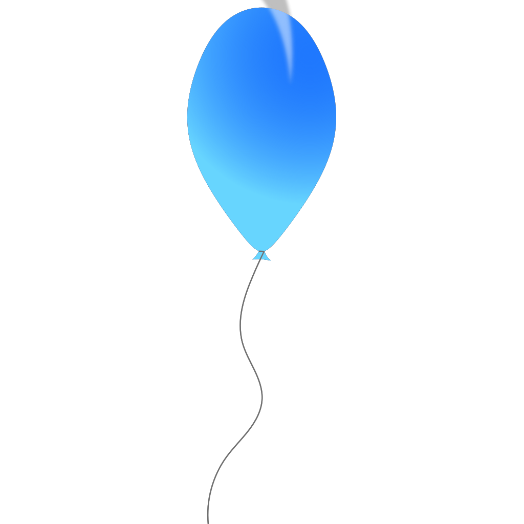 Blue Balloon SVG Clip arts
