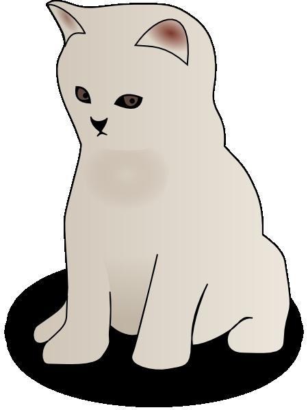 Sitting Kitten SVG Clip arts