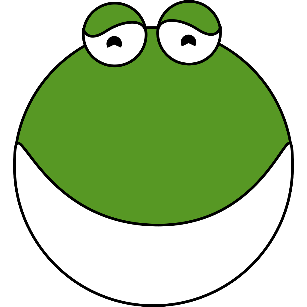 Cute Frog Head SVG Clip arts