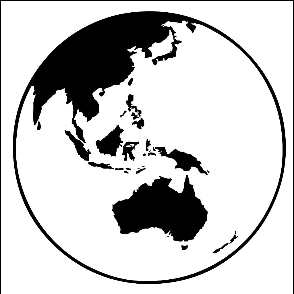Northern Hemisphere Globe SVG Clip arts