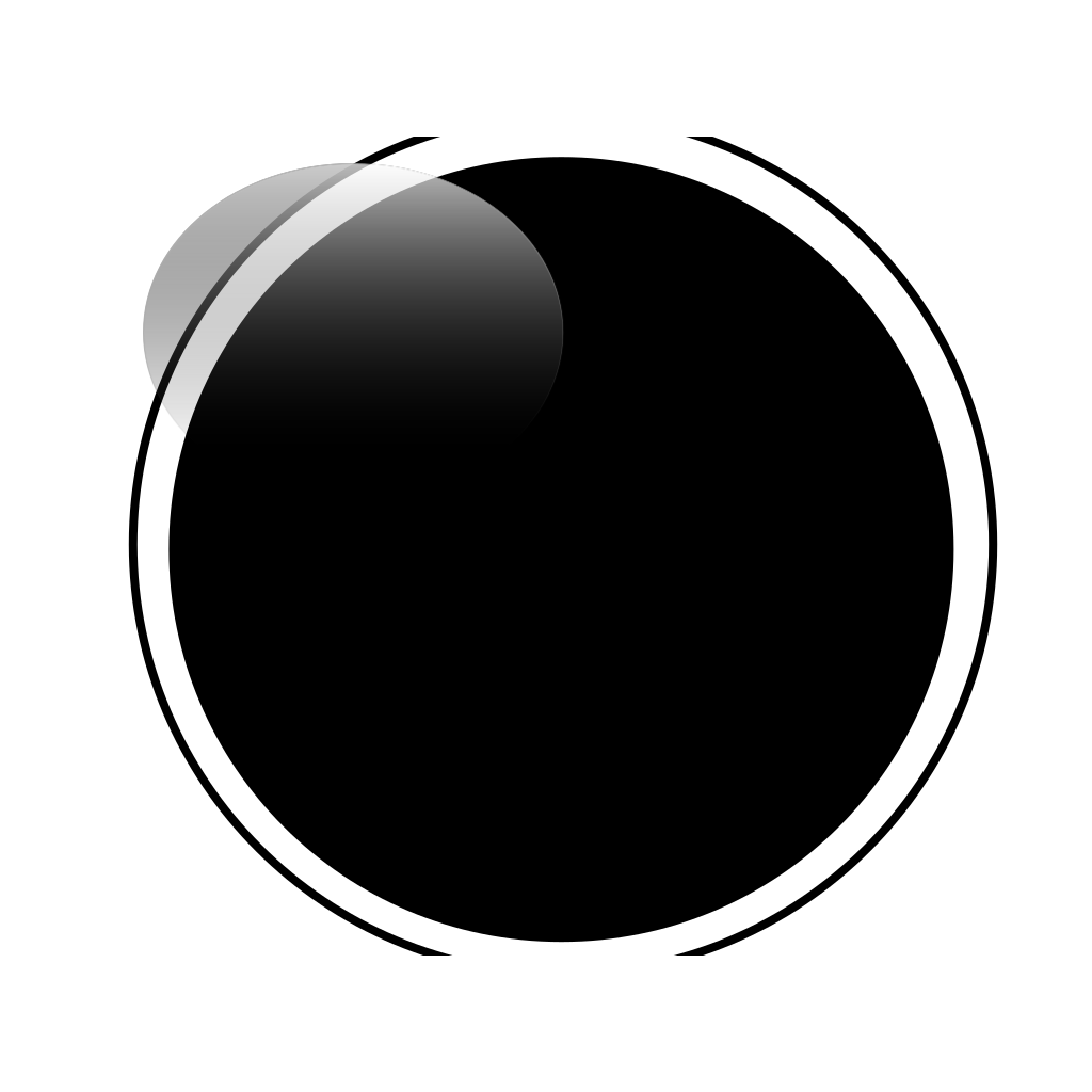 Glossy Black Circle Button PNG, SVG Clip art for Web ...
