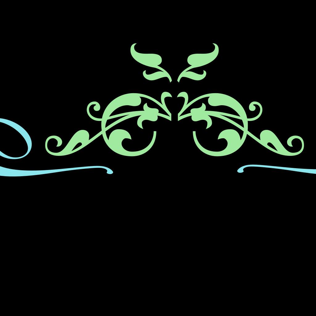 Blue Vintage Swirl SVG Clip arts