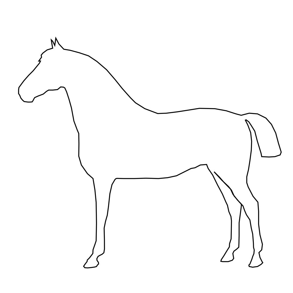 Simple Horse Outline SVG Clip arts