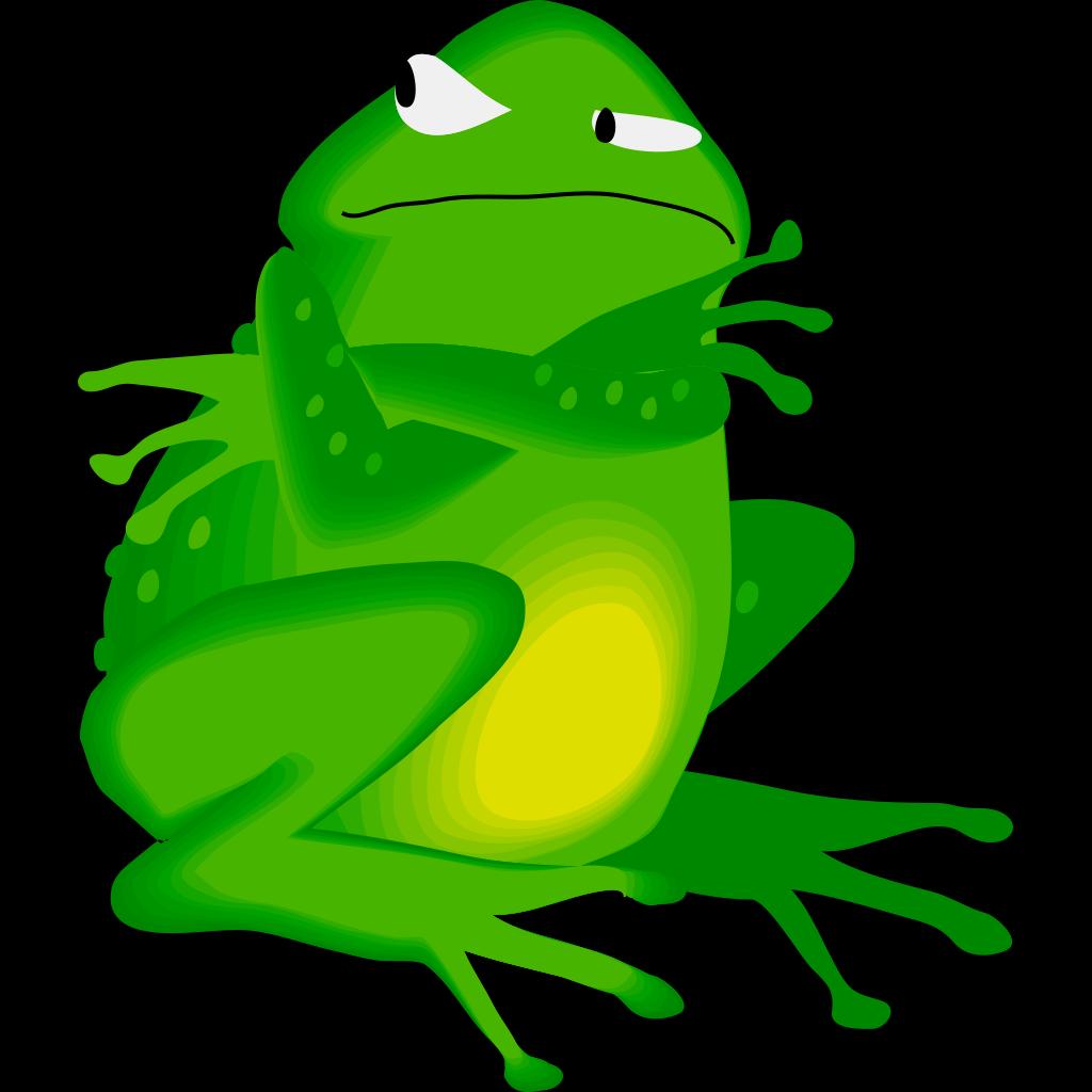 Grumpy Frog SVG Clip arts