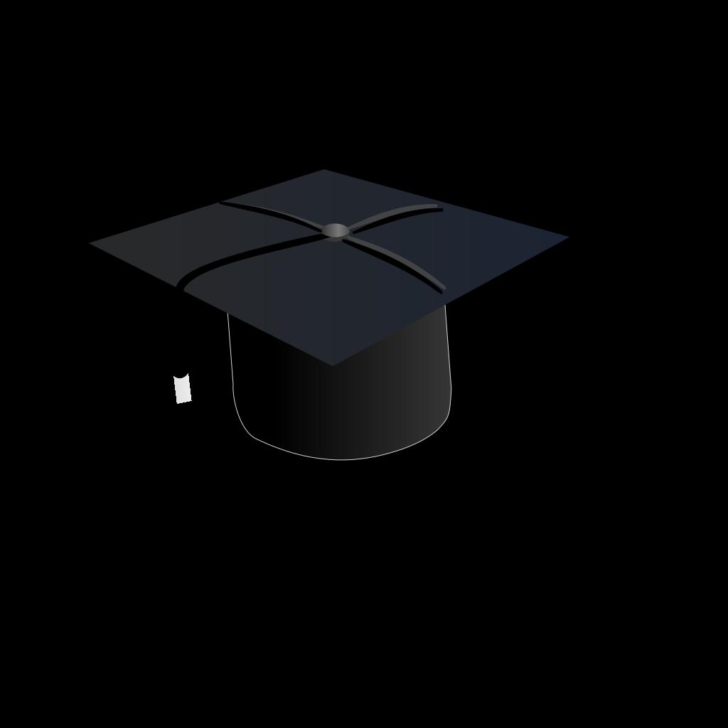 Black Cap SVG Clip arts