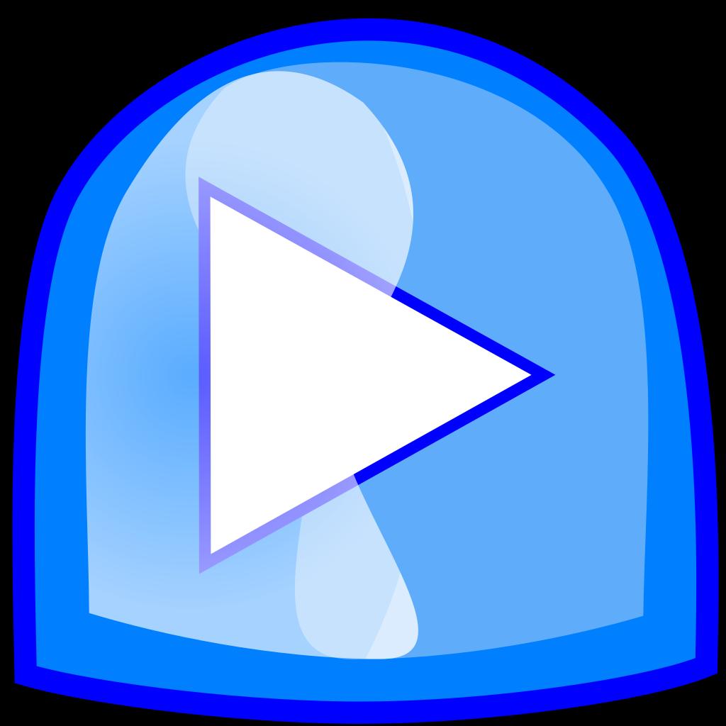 Blue Play Button SVG Clip arts