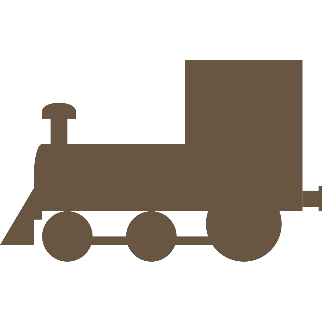 Brown Train Locomotive svg