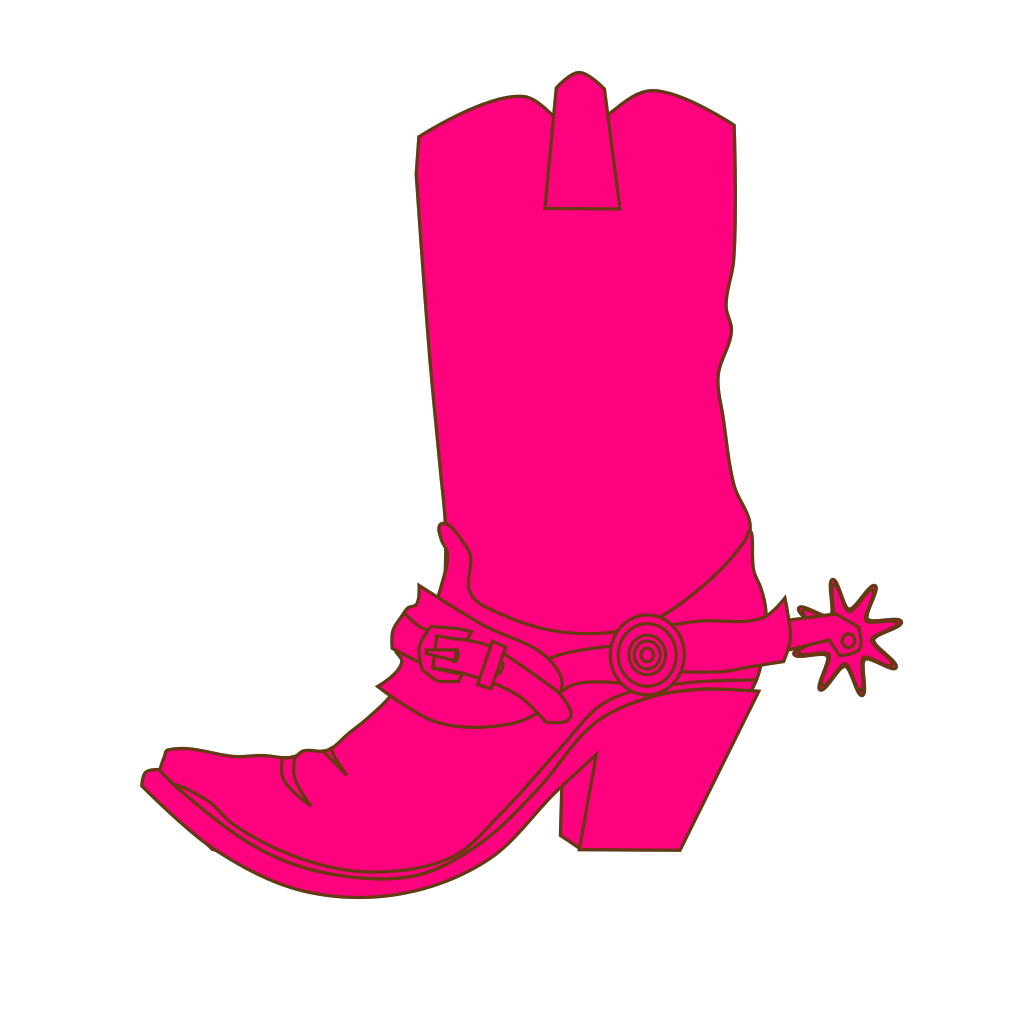 Cowgirl Hat And Boot SVG Clip arts