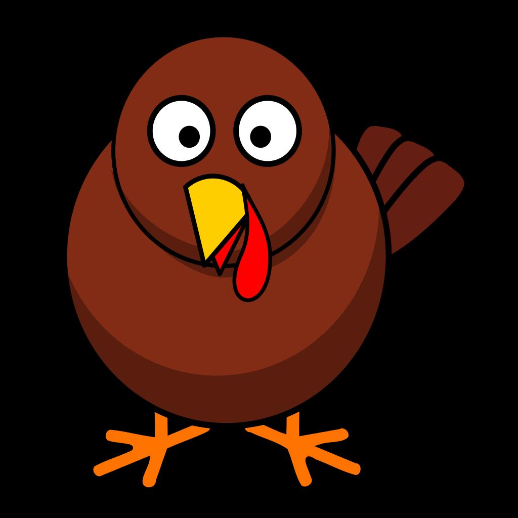 Turkey Round Cartoon SVG Clip arts