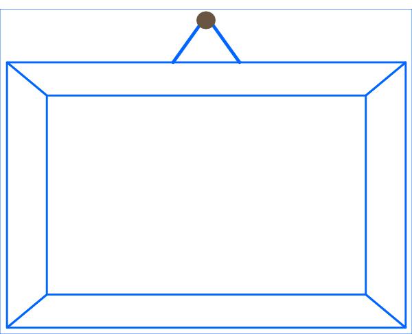Blue Hanging Frame SVG Clip arts