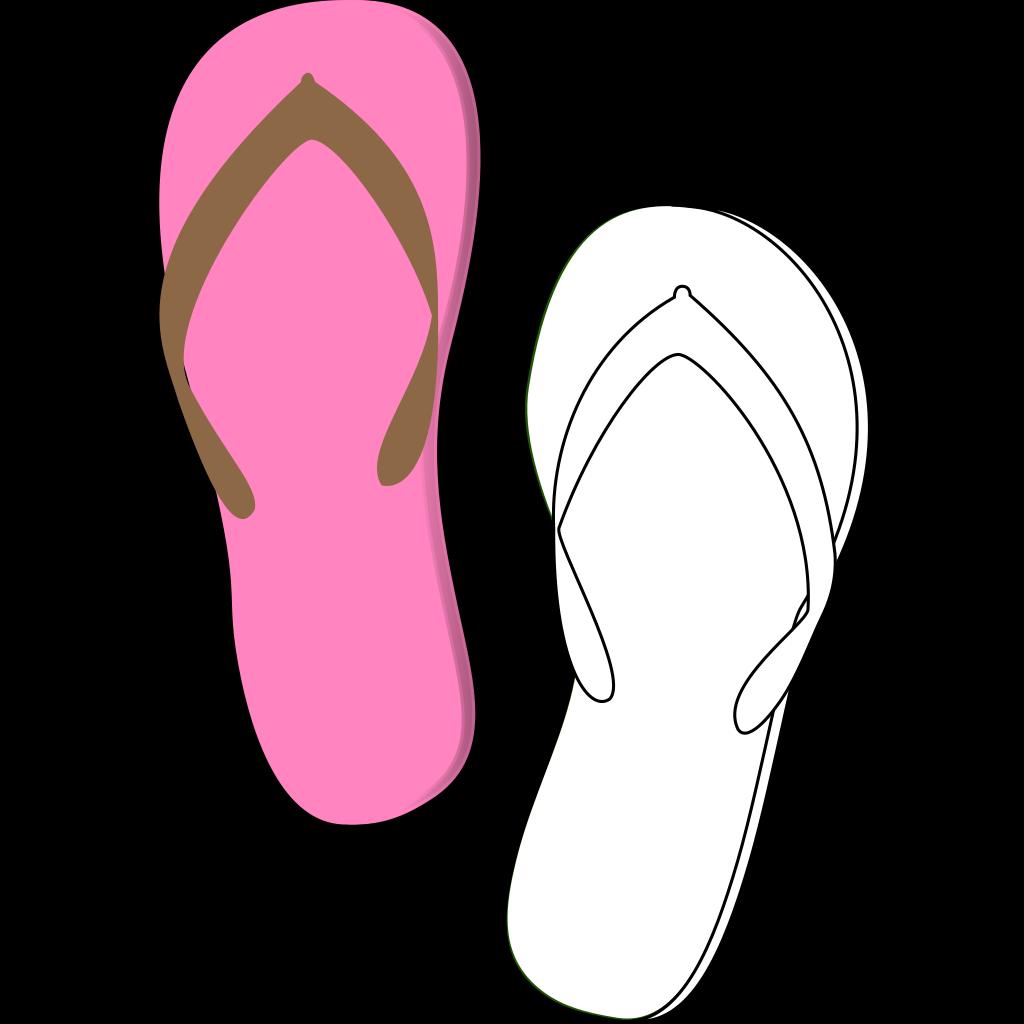 Flip Flops Pink SVG Clip arts