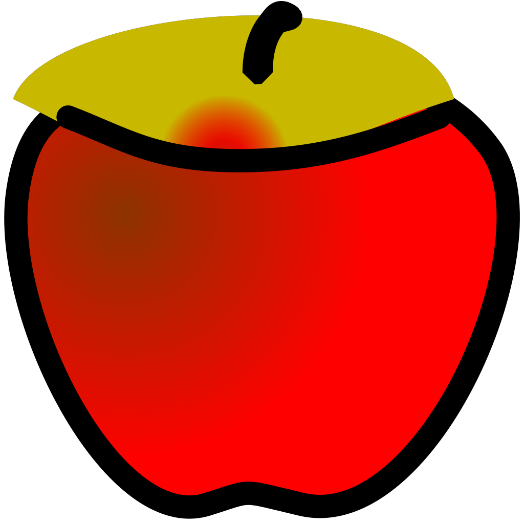 Red Apple SVG Clip arts