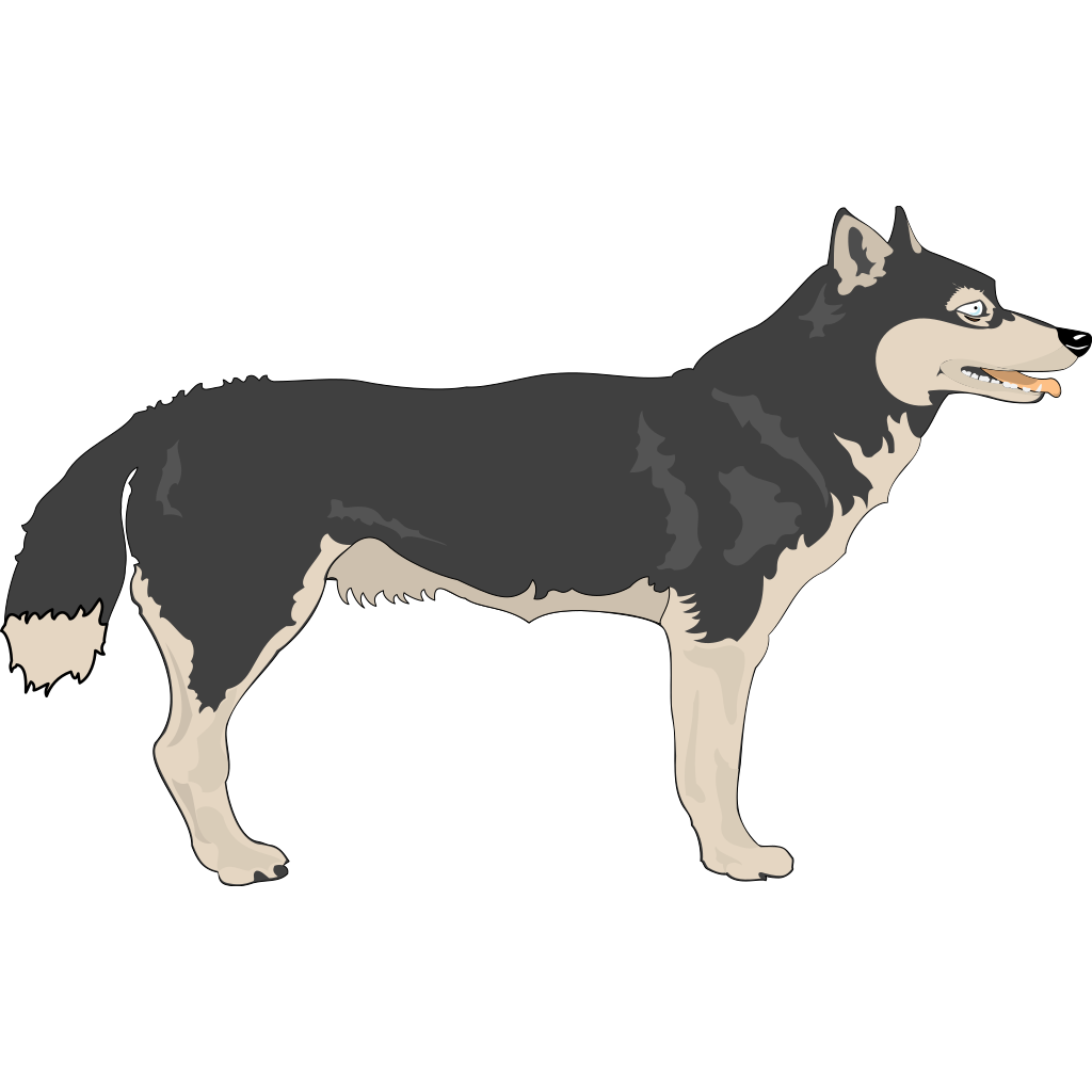 Wolf Side View SVG Clip arts