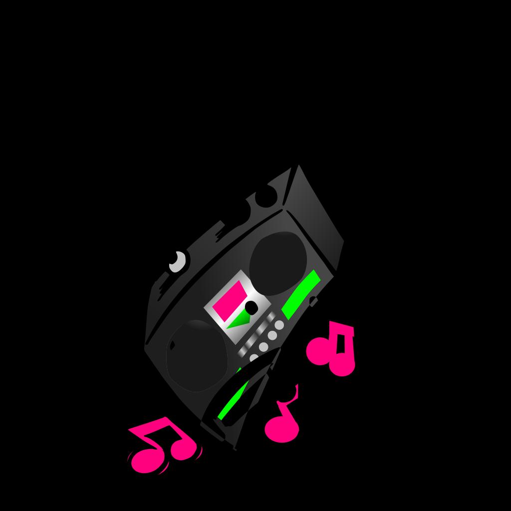 Boombox 2 SVG Clip arts