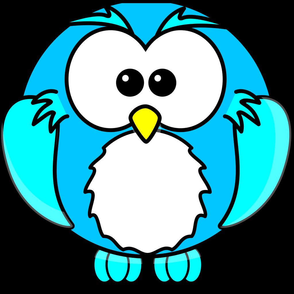 Blue Owlette SVG Clip arts