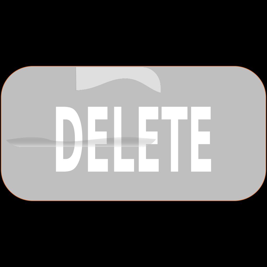 Gray Rectangle Delete Button SVG Clip arts