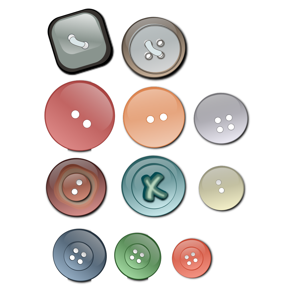 Clothing Buttons SVG Clip arts