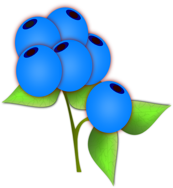 Blueberries SVG Clip arts