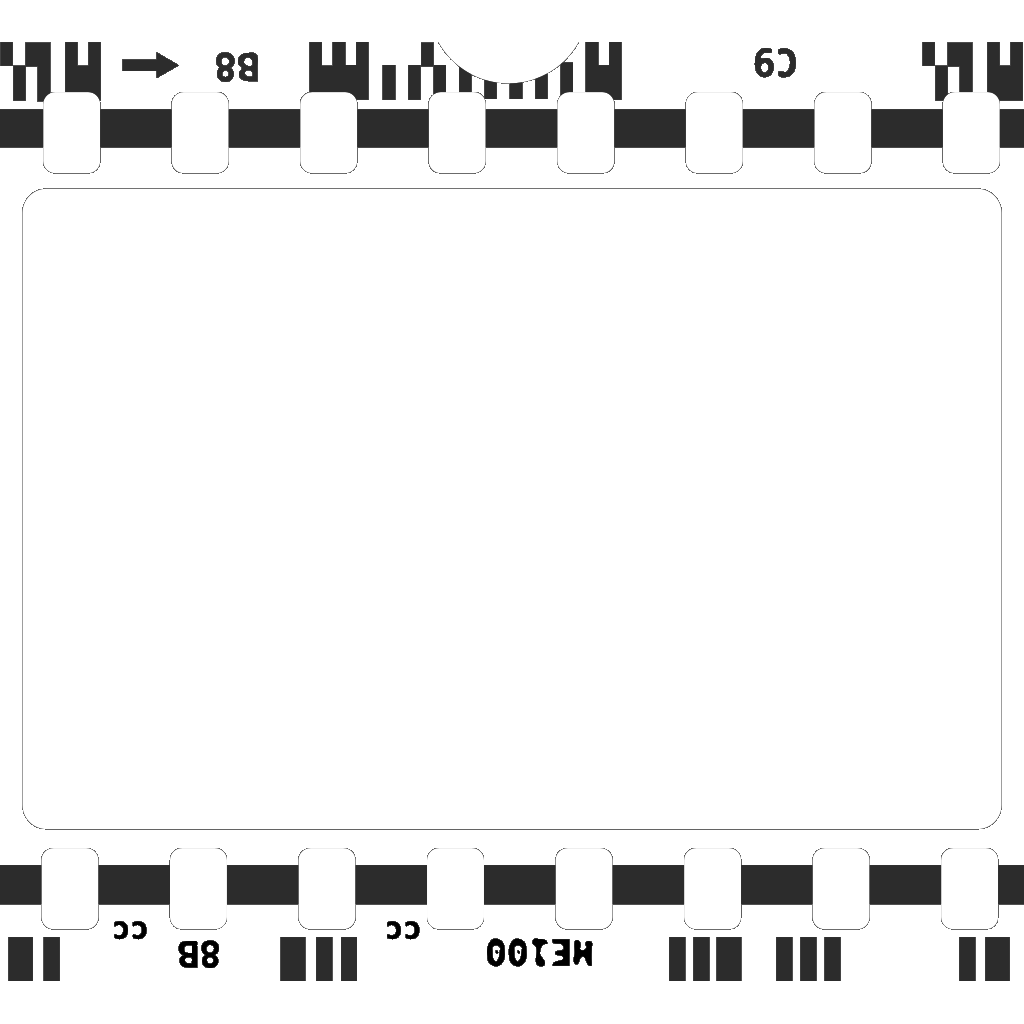 Navy Blue Film Strip SVG Clip arts