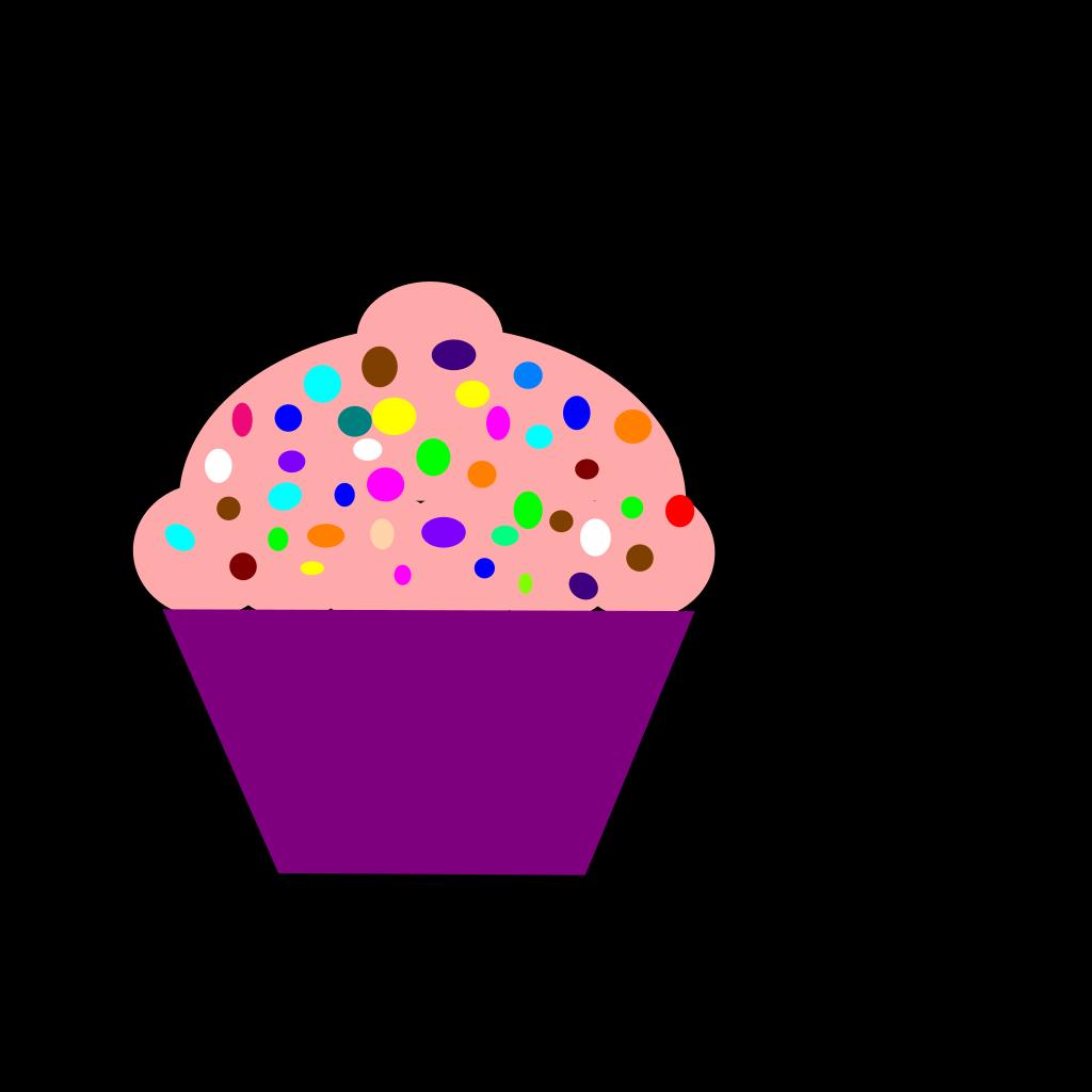 Cupcake Pink SVG Clip arts