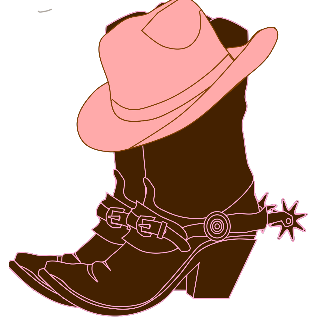 Lighter Brown Cowgirl Boots SVG Clip arts