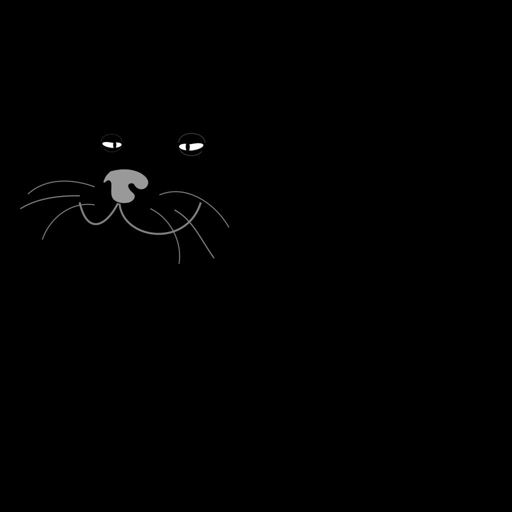 Fat Black Cat SVG Clip arts