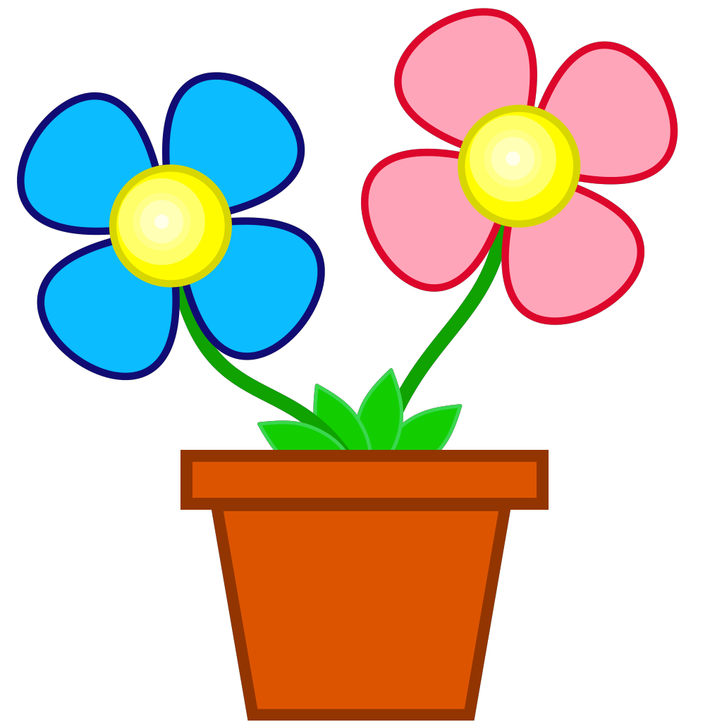 Flowers In A Vase 2 SVG Clip arts
