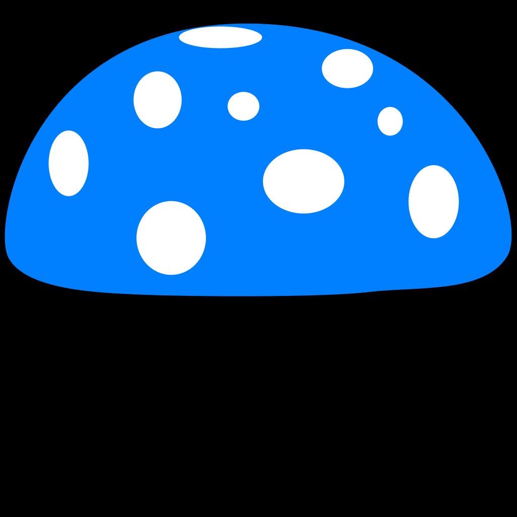 Blue Mushroom SVG Clip arts