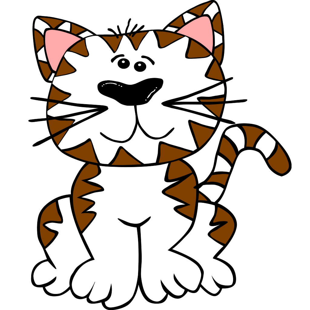 Kitten Brown And White SVG Clip arts