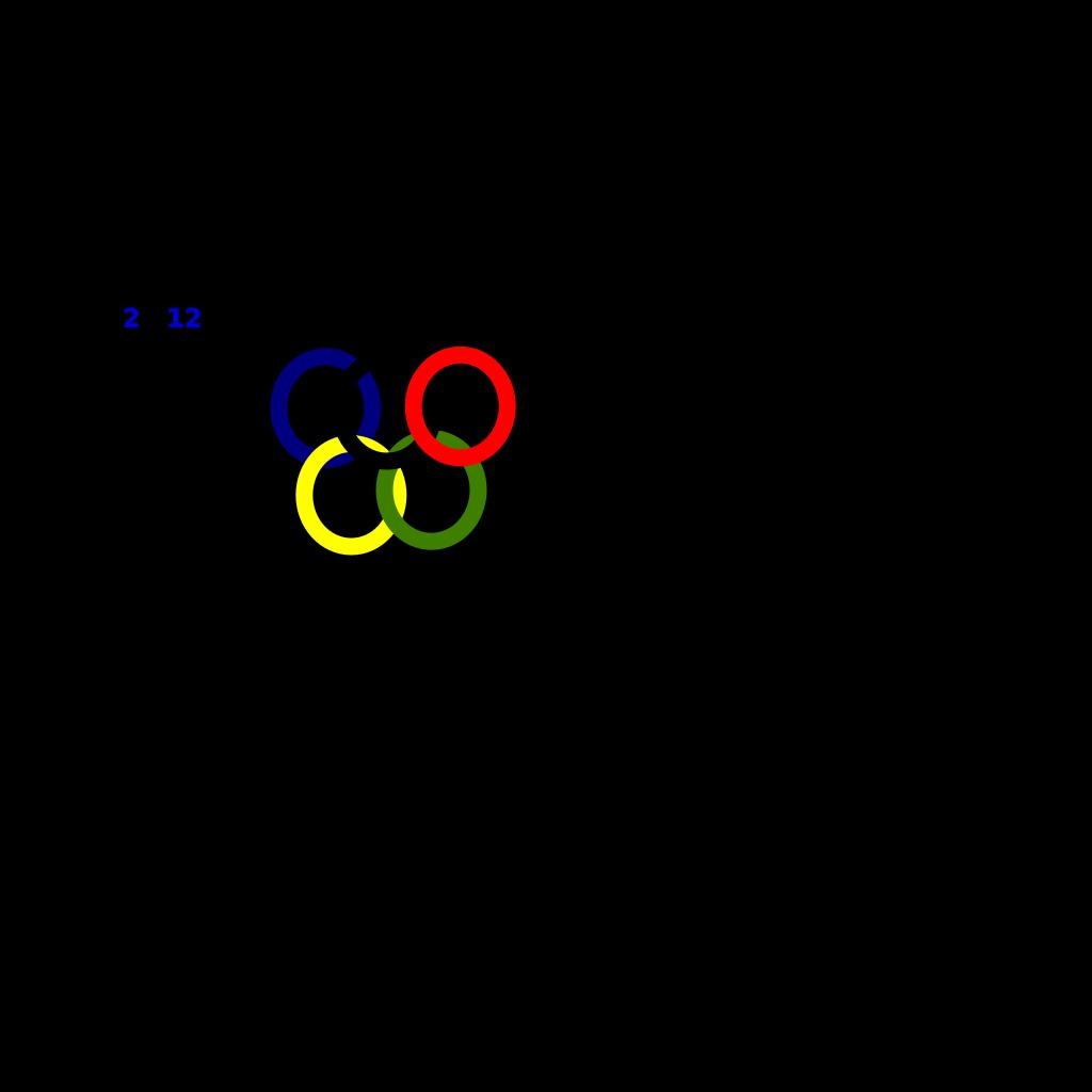 Olimpic 2102 Blue SVG Clip arts