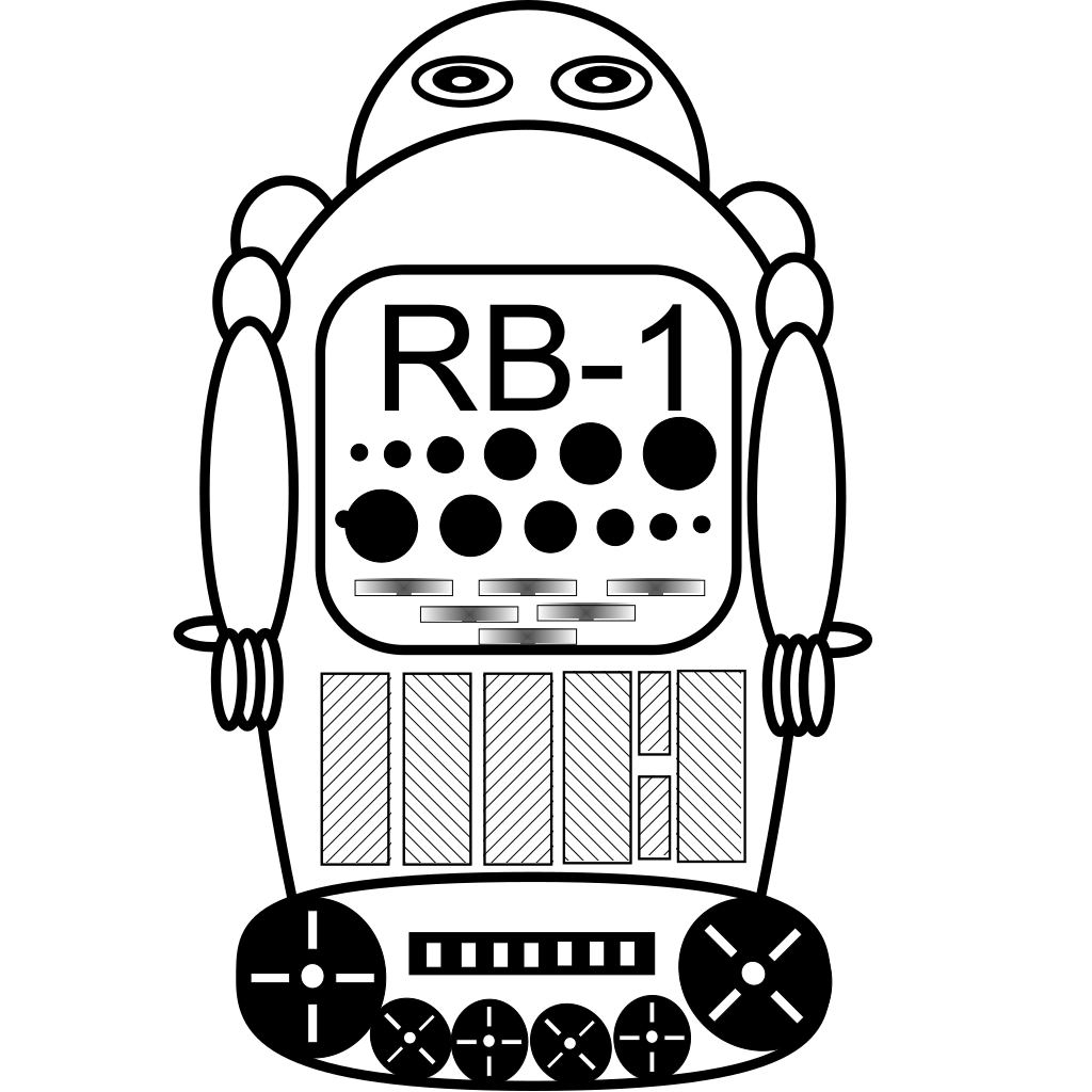 Robot Calculator Clip Art